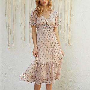Lulu's - Lost + Wander Brooke Maxi Dress size Med